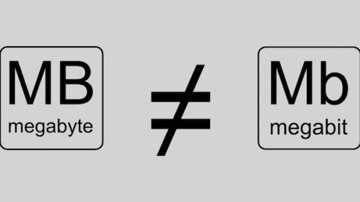 Megabit (Mb) dhe Megabajt (MB), a e dini ku dallojnë?