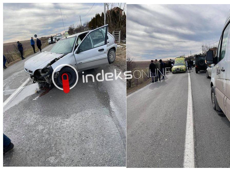 Aksident mes dy veturave në Terrnavc, tre të lënduar dërgohen në emergjencë  - Indeksonline.net